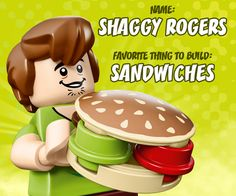 LEGO Shaggy is a master builder... of sandwiches. Tell us your favorite food. #LEGOScoobyDoo