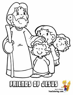 Jesus Is My Friend Coloring Page from TwistyNoodlecom Preschool