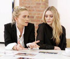 Mary-Kate & Ashley Olsen #style #hair #bun #beauty #mka #olsentwins #celebrity