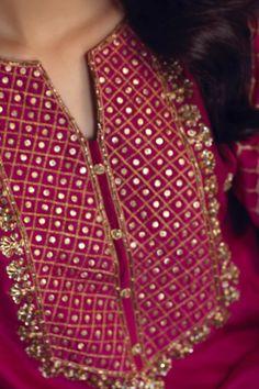 Deeba (Two Piece)-Restocked – Zaaviay Pakistani Fashion Party Wear, Indian Fashion, Women's Fashion, Pakistani Frocks, Pakistani Dresses, Kurta Designs, Dress Designs, Raw Silk Fabric, Dress Indian Style