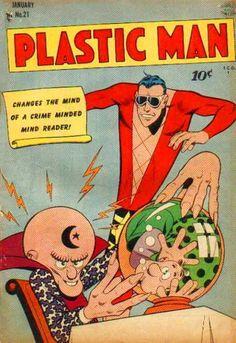 PLASTIC MAN 21 GOLDEN AGE QUALITY COMICS