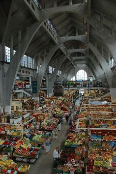 I love markets! The Market Hall - Wroclaw, Dolnoslaskie in Poland. Market Hall, Open Market, Places To Travel, Places To See, Places Around The World, Around The Worlds, Bósnia E Herzegovina, Visit Poland, Poland Travel