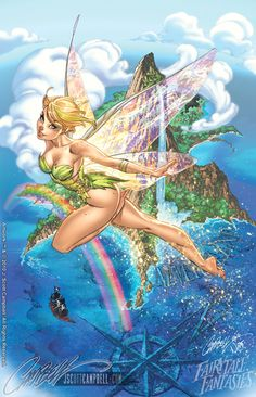 Tinkerbell - Fantasy Fairytales by J. Scott Campbell