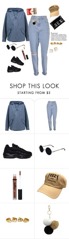 """""""•It's a Desire•"""" by trillest-queen ❤ liked on Polyvore featuring M.i.h Jeans, NIKE, NYX, Under One Sky and Tory Burch"""
