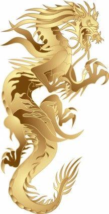 dragon patterns 05 vector