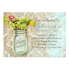 >>>The best place          damask mason jar floral vintage birthday party custom invites           damask mason jar floral vintage birthday party custom invites lowest price for you. In addition you can compare price with another store and read helpful reviews. BuyDeals          damask maso...Cleck Hot Deals >>> http://www.zazzle.com/damask_mason_jar_floral_vintage_birthday_party_invitation-161625404005148239?rf=238627982471231924&zbar=1&tc=terrest