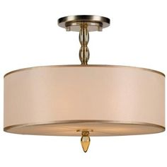 """Crystorama Luxo Brass 18"""" Wide Ceiling Light -  I like this one, too.  But, is it not wide enough?  Is the metal the best  color?"""