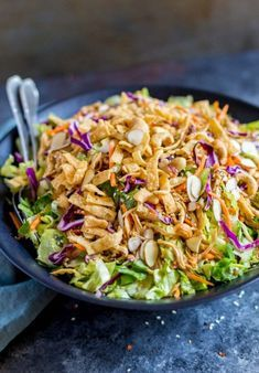 Chicken Salad Recipes, Healthy Salad Recipes, Salad Chicken, Dinner Salad Recipes, Chinese Chicken Salad Dressing, Salads For Dinner, Cabbage Salad Recipes, Healthy Summer Recipes, Summer Salad Recipes