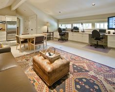 Luxurious Home Decoration to Your House: Exciting Modern Open Home Office Mercer Island Waterfront Estate