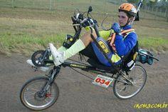 Em 2005 primeira reclinada Zöhrer a estrear no Audax do Rio Grande do Sul de 200km com Edimar da Silva no tempo de 9:56 h com uma Nova Chopper. - Fotolog