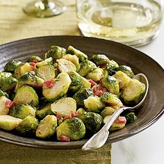 Brussels Sprouts with Pancetta by Cooking Light