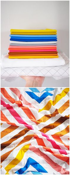 The Stripe Crossing Quilt Pattern by Meghan from thencamejune.com. This pattern has a strong and clean aesthetic and is beginner friendly. #stripecrossing #thencamejunepatterns #modernquilt Sun Flare, Half Square Triangle Quilts, Modern Quilt Patterns, Contemporary Quilts, Geometric Designs, Pattern Making, Quilting Designs, My Design, June