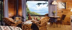 Rustic Log Cabin Duplex - Point No Point Resort.  vancouver island
