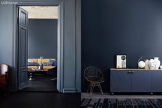 tv: soffa-Deco blue, Kvällshimmel th: Sophisticated blue
