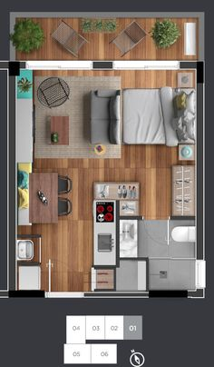 The price reach of the Apartment was amazing. Small Apartment Layout, Studio Apartment Floor Plans, Studio Apartment Layout, Studio Apartment Decorating, Apartment Plans, Apartment Design, Small House Plans, House Floor Plans, Espace Design