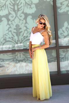 Yellow Summer Maxi // LOVELY LITTLE STYLE