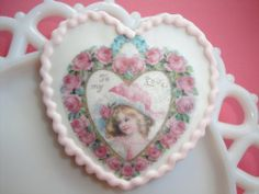 Vintage Valentine Hearts Wafer Papers and by QueenofTartsWafers