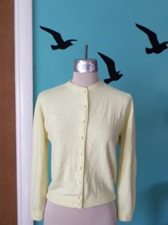 Spring Buttercup  1950's Ever So Soft Orlon Yellow by Kinfauns