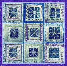 ceramic tile snowflakes -  could also try with photo paper, watercolors, etc