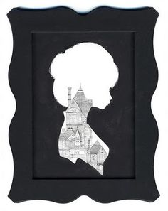 Silhouette illustration by Charmaine Olivia Art And Illustration, Steampunk Illustration, Charmaine Olivia, Silhouette Art, Silhouette Drawings, Silhouette Portrait, Black And White Drawing, Looks Cool, Art Lessons