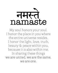 Image result for namaste in sanskrit tattoo