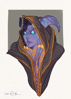 random draenei lady for daily sketch Can unusual skin patterns be a draenei thing? I'd like to see more of that