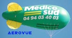 ballon dirigeable helium publicitaire PVC 6m