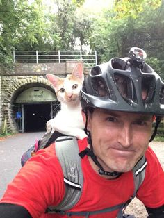 """Apparently he goes everywhere with his Daddy AND enjoys it - he is the ~> """"The excellent adventurer""""!"""