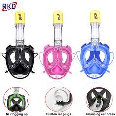 RKD 2nd generations Full Face Diving mask Swimming training Scuba Snorkeling mask Anti Fog  Respiratory masks 100% waterproof