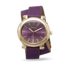 Purple Leather Wrap Fashion Watch @ Salerno's Jewelry Store!
