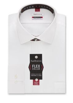 Van Heusen White  ular-Fit Flex Collar Dress Shirt