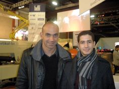 Nassim Hartani with Loic Lemeur (founder, LeWeb Conference)