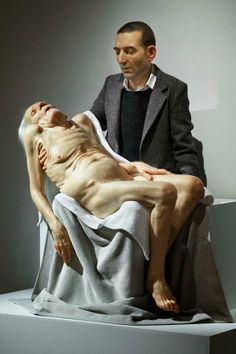 Sam Jinks. Some of his work, like this old man seen here, is even hard to look at. It isn't gruesome, but many people react to it.