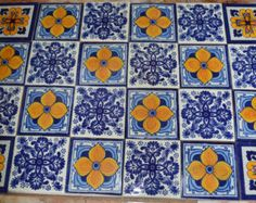 Mexican Talavera Tiles Handpainted X Mexicans - 4 inch mexican tile