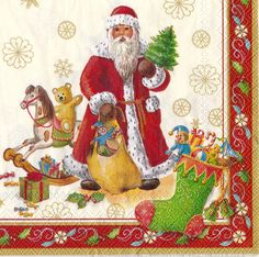 Set of 3(three)napkins Christmas Toy's Specials cream for decoupage,decoupage under glass, mixed media,scrapbooking and other art and crafts door Dalilasdecoupage op Etsy