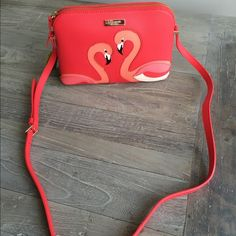 NWT  Kate Spade Flamingo Crossbody Authentic guaranteed. Brand new with tag. Adorable Kate Spade Crossbody flamingo bag. FIRM PRICE. NO TRADES. Matching accessories available in my closet for sale! Limited supplies! Bundle and save ❤️ kate spade Bags Crossbody Bags