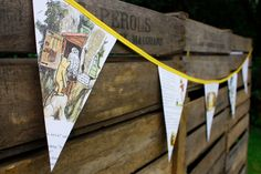Inspiration: Winnie the Pooh story book paper book paper bunting.