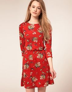 72b5f35e49 ASOS -- Warehouse Flower  amp  Bird Print Dress Flower Bird