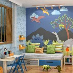 Bedroom Murals, Boys Bedroom Decor, Baby Bedroom, Baby Boy Rooms, Nursery Room, Kids Room Murals, Dinosaur Room Decor, Dinosaur Bedroom, Dinosaur Kids Room