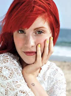 Hayley Williams. She aspired me to dye my hair red!