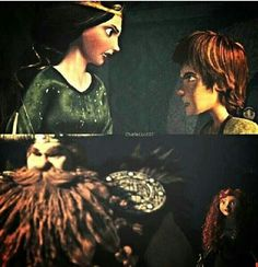 Switching Places. I wonder if this would really happen if Mericcup's roles were reversed? I mean, Hiccup would make a great prince and Merida would be the Viking Stoick ever wanted.
