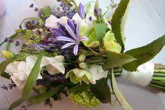 Bouquet ideas for France: Wild Wedding Bouquet in Lavender, Violet, Sage Green & Ivory