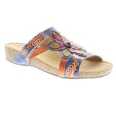282887 Spring Step Thrill Slide Sandals - Navy