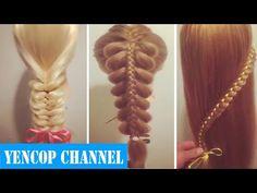 5 Peinados Faciles Y Rapidos Y Bonitos Con Trenzas (P11) | Peinado 2015 - 2016 ♥ Yencop - YouTube