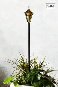 Beautiful design lights up the yard, patio, deck. Matte black iron pole and brass-finished oil pot. Tiki torch is gorgeous even when not lit. Tiki Torches, Modern Patio Furniture, Outdoor Safes, Tiki, Standard Furniture, Lights, Candle Mirror, Outdoor Pillows, Torch