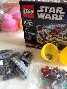 Instead of chocolate, the Easter eggs are filled with the LEGO pieces
