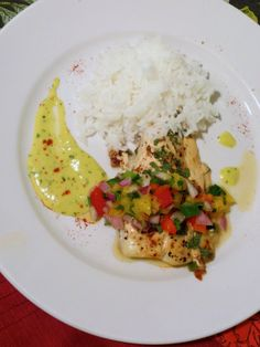 Chipotle Halibut with Mango Salsa