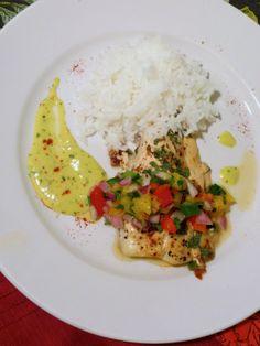 Chipotle Halibut with Mango Salsa