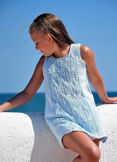 Blue Sea Beach Summer Dress Knitting pattern by Natalie Pelykh | Knitting Patterns | LoveKnitting