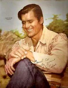A poster of Clint Walker as Cheyenne Bodie. Hollywood Stars, Classic Hollywood, Clint Walker Actor, Cheyenne Bodie, Spy Shows, Janes Mansfield, Annie Oakley, Tv Westerns, Western Movies